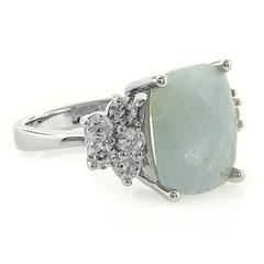 Aquamarine Silver Ring