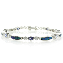 Australian Opal Bracelet with Tanzanite