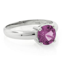 Changing Color Alexandrite Stone Solitaire Ring