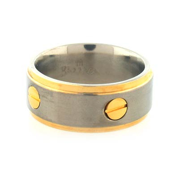 Barraca Titanium Ring With Gold