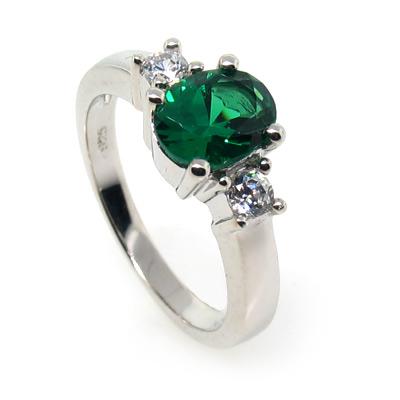 silver emerald ring silverbestbuy