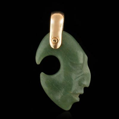 Genuine Hand Crafted Jade Gold Pendant